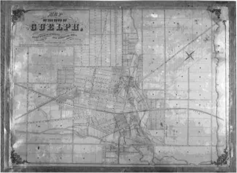 Historic Guelph Map of the Town Of Guelph V51P7