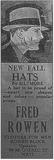 Historic Guelph New Fall Hats Ad V47P42