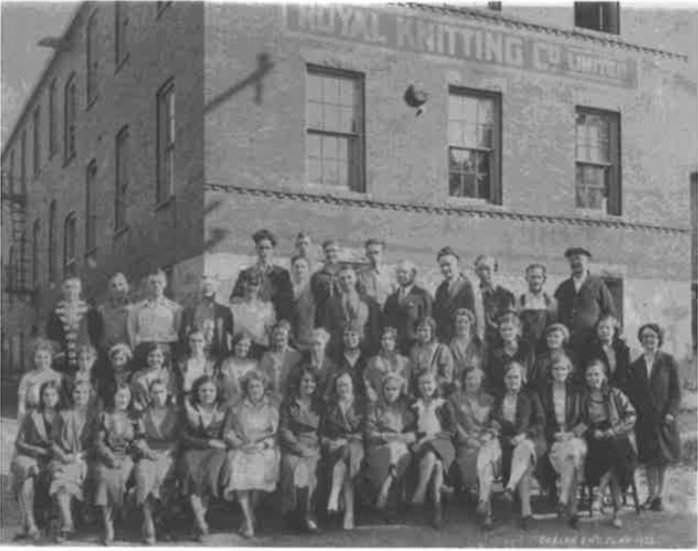 Historic Guelph Royal Knitting Co. Employees V51P20
